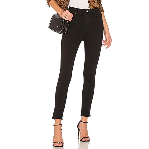 Agolde Denim - Agolde Roxanne Super High Rise Skinny Black Jeans